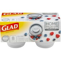 Glad Home Collection Mini Round Food Storage Containers - 4oz - 8 Containers