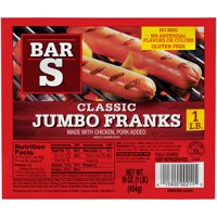 Bar S America's Favorite Jumbo Franks, 16 Oz.