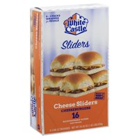White Castle Cheese Sliders, Frozen Cheeseburger Sliders, 16 Count
