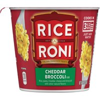 Rice-A-Roni Cheddar Broccoli Flavor, Microwaveable Cup, 2.11 oz