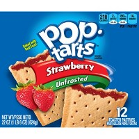 Pop-Tarts Unfrosted Strawberry Pastries - 12ct/20.31oz - Kellogg's