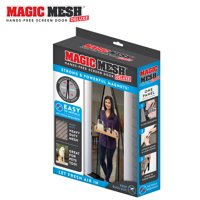 Magic Mesh Deluxe Magnetic Hands Free Screen Door Cover, As Seen on TV