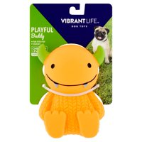 Vibrant Life Playful Buddy Latex Monster Dog Toy, Character May Vary, Chew Level 2