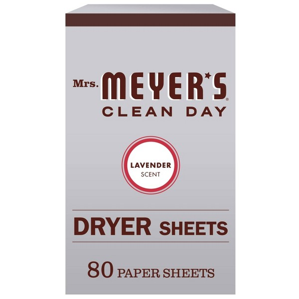 Mrs. Meyer's Clean Day Lavender Scent Dryer Sheets - 80pk