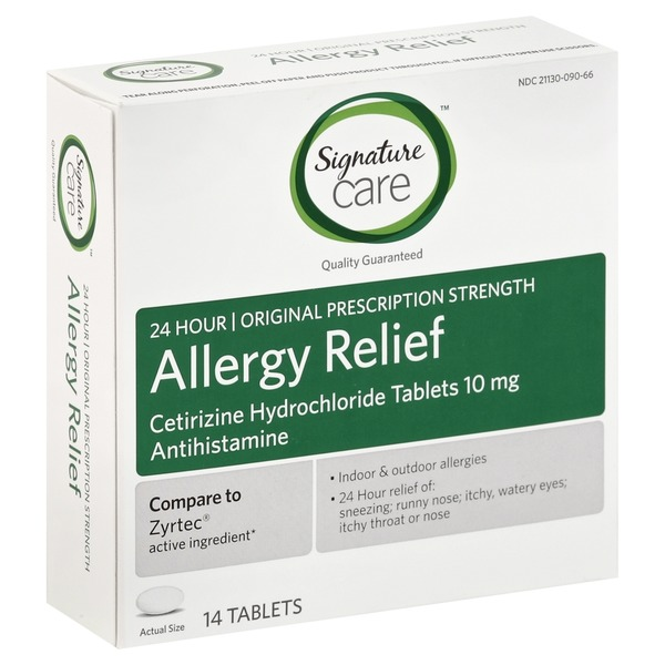 Signature Allergy Relief, Original Prescription Strength, Tablets