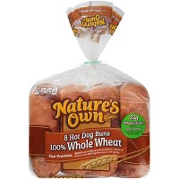 Nature's Own 100% Whole Wheat Hot Dog Rolls 8 ct