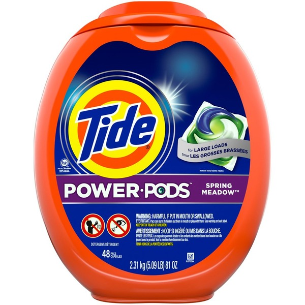 Tide Hygienic Clean Heavy 10x Duty Power PODS Liquid Laundry Detergent, Spring