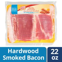 Oscar Mayer Naturally Hardwood Smoked Bacon, 22 oz Vacuum Pack