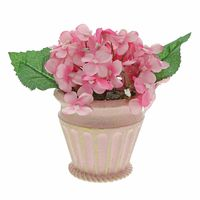 """Destination Holiday 6.5"""" Pink Floral in Pot Easter Table Decoration"""