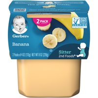 Gerber 2nd Foods Banana Baby Food 4 oz. Tubs 2 Count
