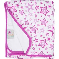 MiracleWare Muslin Baby Blanket Stars Orchid