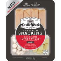Castle Wood Reserve Oven Roasted Turkey Breast Coated With Asiago Cheese