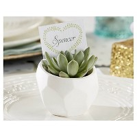 12ct Modern Garden Geometric White Planter