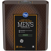 Kroger Large & Extra Large Maximum Absorbency Underwear for Men