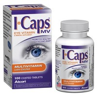 I-Caps Lutein Enriched Eye Vitamin and Mineral Dietary Supplement Tablets - 100ct