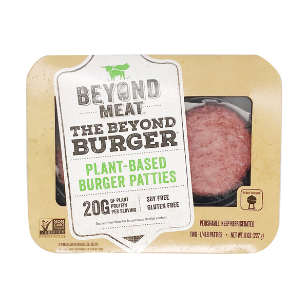 Beyond Meat Plant-based Burger Patties, 8 oz