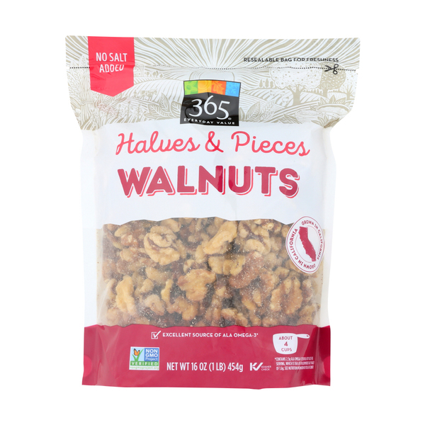 365 everyday value® Walnut Halves and Pieces, 16 oz
