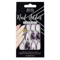 Ardell Nail Addict False Nails Marble Purple Ombre - 24ct