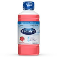 Pedialyte Electrolyte Solution, Hydration Drink, Strawberry, 1 Liter