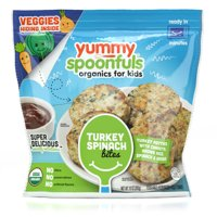Yummy Spoonfuls Turkey Spinach Bites- Turkey Patties with Carrots, Brown Rice, Spinach & Herbs, 10ct