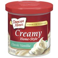 Duncan Hines Frosting, Home-Style, Creamy, Classic Vanilla