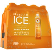 Sparkling Ice® Naturally Flavored Sparkling Water, Orange Mango 17 Fl Oz, (Pack of 12)
