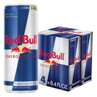 (4 Cans) Red Bull Energy Drink, 8.4 Fl Oz