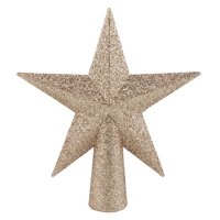 Holiday Time Gold Star Glitter Mini Tree Topper, 6