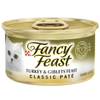 Fancy Feast Grain Free Pate Wet Cat Food, Classic Pate Turkey & Giblets Feast, 3 oz. Can