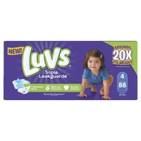 Luvs Triple Leakguards Diapers Size 4 88 Count