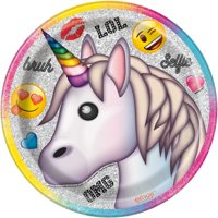 Unicorn Emoji Paper Dessert Plates, 7in, 8ct
