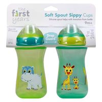 The First Years Sippy Cups, Soft Spout, Spill Proof