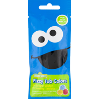 Sesame Street Fizzy Tub Colors Assorted Bathwater Colors 9 Ct.