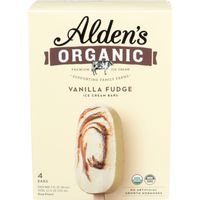 Alden's Aldens Organic Ice Cream Bar, Vanilla Fudge, Swirled, Organic, Box