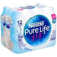 Nestle Pure Life Purified Water, 16.9 fl oz. Plastic Bottled Water (Pack of 12)