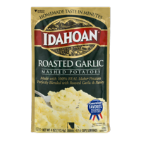 Idahoan Roasted Garlic Mashed Potatoes - Gluten-Free, Real Idaho Potatoes - 1 Pouch (4 Servings)