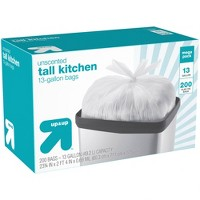 Tall Kitchen Flap Tie Trash Bags - 200ct - Up&Up™