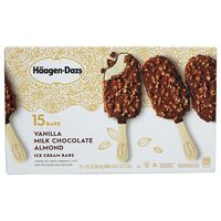 Haagen Dazs Vanilla & Almond Bar, 15 ct