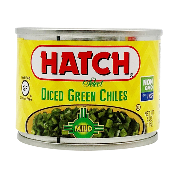 Hatch Chili Company Mild Diced Green Chiles, 4 oz