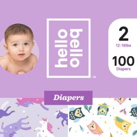 Hello Bello Diapers Club Box - Unicorn Pants & Hootie Booties - Size 2 (100ct)