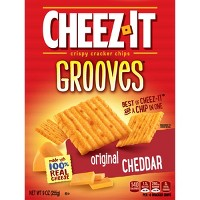 Cheez-It Grooves Original Cheddar Crackers - 9oz