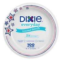 Dixie Everyday Paper Lunch Plates, 8.5', 100 Count, Patriotic Limited Edition