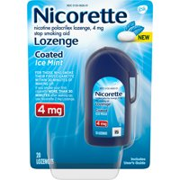 Nicorette Nicotine Lozenges to Stop Smoking, 4mg, Ice Mint Flavor - 20 Count