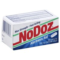 No Doz Alertness Aid, Max Strength, 200 mg, Caplets