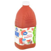 Great Value Ruby Red Grapefruit 100% Juice, 64 fl oz
