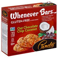 Pamela's Pamelas Snack Bars, Soft & Chewy, Gluten Free, Whenever Bars, Oat Chocolate Chip Coconut, Box