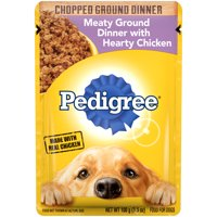 Pedigree Wet Dog Food Single Pouch, Various Flavors, 3.5 oz