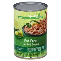 Signature Kitchens Refried Beans, Fat Free