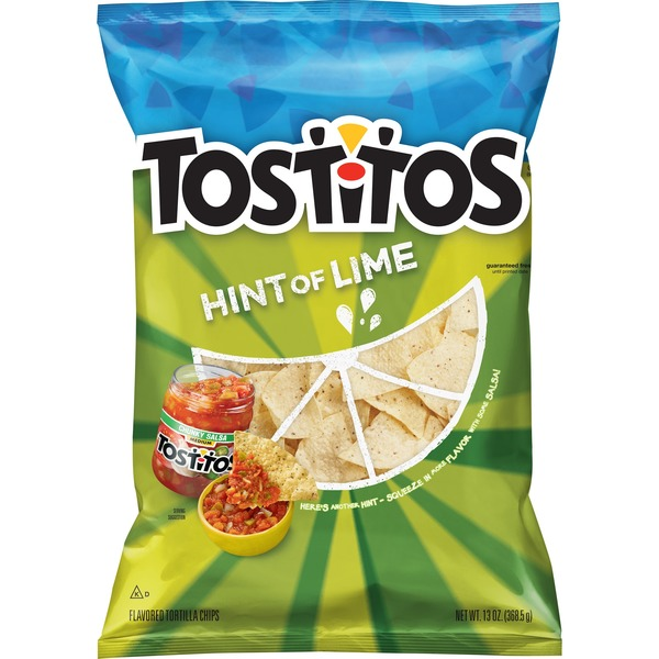 Tostitos Hint Of Lime Flavored Tortilla Chips