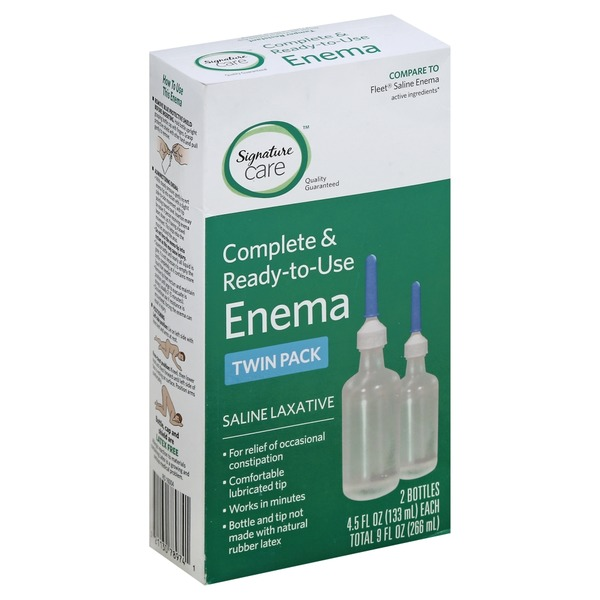Signature Enema, Complete & Ready-to-Use, Twin Pack